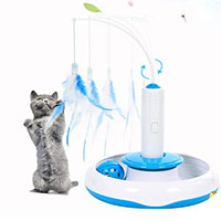 Best Electronic Cat Toys Adrance Feather Tower and Ball Track