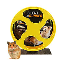 """Best Hamster Cage Toys Exotic Nutrition Silent Runner 9"""" - Pet Exercise Wheel + Cage Attachment"""