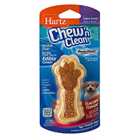 Best Dental Toys for Dogs HARTZ Dental Duo Small Dog Chew Toy with Edible Bacon Flavored Center