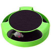 Best Electronic Cat Toys PETOU IQ Treat Toy with Scratch Pad