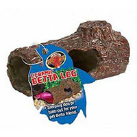 Best Toys for Betta Fish Zoo Med Laboratories AZMFA50 Sinking Ceramic Betta Log