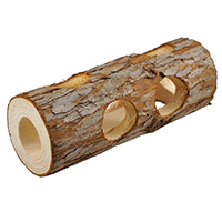 Niteangel-Natural-Wooden-Hamster-Mouse-Tunnel-Tube-Toy-Forest-Hollow-Tree-Trunk